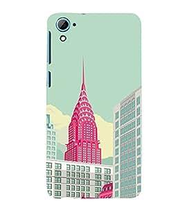 EPICCASE New york new life Mobile Back Case Cover For HTC Desire 826 (Designer Case)