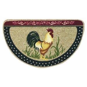 Bacova Guild 36984 Cock-A-Doodle-Doo Berber Kitchen Slice Rug