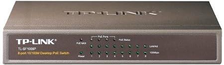 TP-LINK - JetStream TL-SF1008P V4.0 - Commutateur - non géré - 4 x 10 100 4 x 10 100 (PoE) - Ordinateur de bureau - PoE
