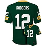 Aaron Rodgers Green Bay Packers Green NFL Youth 2015-16 Season Mid-tier Jersey