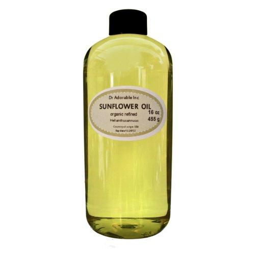 Refined Sunflower Oil High Oleic Organic 100% Pure 16 Oz/ 1 Pint