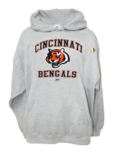 NFL Cincinnati Bengals Pullover Hooded Sweatshirt, Gray, Medium Amazon.com