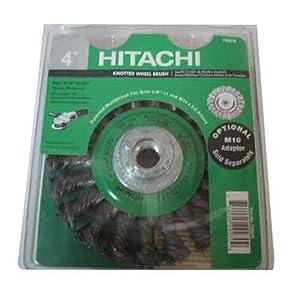 Hitachi 729270 4-Inch Twist Knot Carbon Steel Wire Wheel Brush