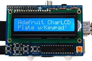 Adafruit Industries - 1115 - Blue & White 16X2 Lcd + Keypad Kit, Raspberry Pi