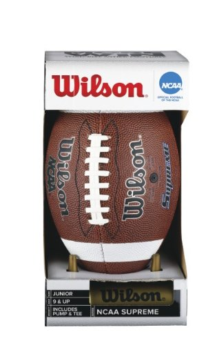 Wilson NCAA Supreme W/Pump & Tee (Junior) Football (Football For Boys compare prices)