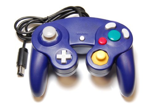 Assecure Purple (indigo) Classic Controller Pad For Nintendo GameCube & Wii