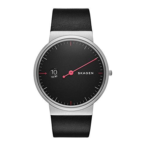 Skagen - SKW6236 - Montre Homme - Quartz - Analogique - Bracelet cuir noir