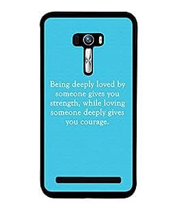 Fuson 2D Printed Quotes Designer back case cover for Asus Zenfone Selfie - D4574