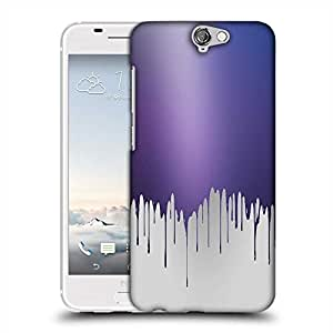 Snoogg Paint droplets Designer Protective Back Case Cover For HTC one A9