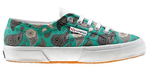 Superga chaussures coutume Turquoise Paisley (produit artisanal)