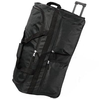 Large 27 Inch Lightweight Wheeled Luggage Bag (Black) by Karabar