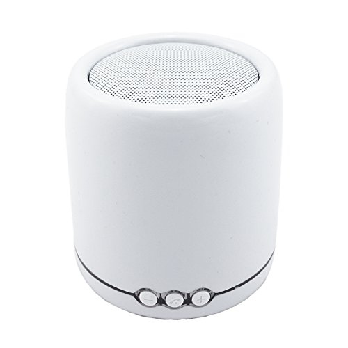 Sadotech Me-A8 Portable Mini Bluetooth Wireless Speaker With Built-In Hands-Free Function, 6 Hours Rechargeable Battery (White)