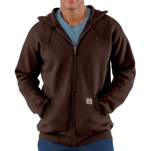 Carhartt Midweight Hooded Zip Front Sweatshirt Dark Brown M,L,XL,XXL Mens