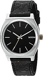 Nixon Mens A0452222-00 Time Teller Analog Display Japanese Quartz Black Watch