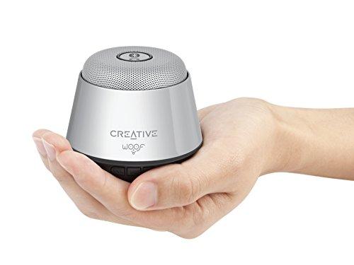 Creative Woof クリエイティブ ウーフ Bluetoothワイヤレススピーカー シルバー SP-WOOF-SV