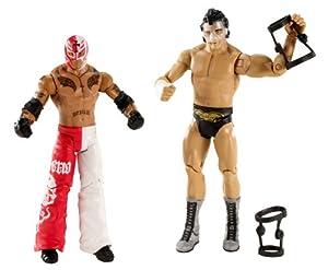 Rey Mysterio vs. Cody Rhodes Figuren Set WWE Wrestling Battle Pack mit Maske und Kniestützen