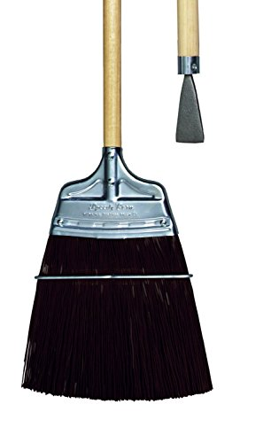 Milwaukee Dustless Brush, Track broom, brown poly, wood handle with steel chisel (Speedy Corn Broom compare prices)