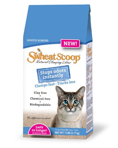 Swheat Scoop Lightly Scented Litter for Pets, 7-Pound