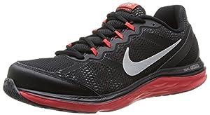 Nike Men Dual Fusion Run 3 Blck/Mtllc Slvr/Chllng Rd/Wlf Running Shoe 9 D M US