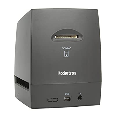 Koolertron High-Resolution Scanner/Digitizer - Converts 35mm Negatives & Slides to 5 Or 10 Megapixel Digital JPEGs Using Built-In Software Interpolation - No Computer/Software Required to Operate - Features