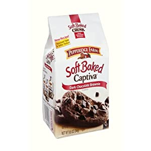 Amazon.com : Pepperidge Farm Soft Baked Captiva Dark Chocolate Brownie