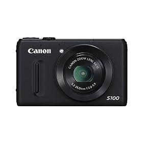 (直降)佳能Canon PowerShot S100 1210万 3寸液晶 5X光变 DIGIC 5 带GPS相机,银$379