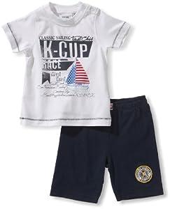 Blue Seven - Camiseta con cuello redondo de manga corta para bebé