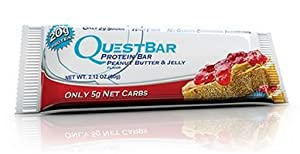 Quest - Protein Bars, Peanut Butter and Jelly, 2.12oz, Pack of 24