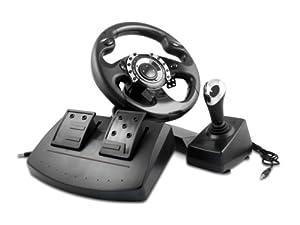 lioncast playstation 3 ps3 und pc lenkrad mit schaltung. Black Bedroom Furniture Sets. Home Design Ideas