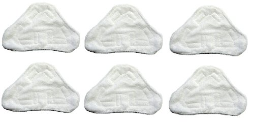 6 Replacement Pads Compatible with H2O H20 Steam Mop X5 Model Only