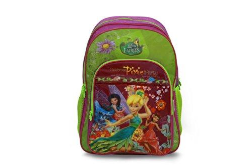 Genius Lil Genius Disney Fairies Green School Bag (LG FR 1402 V-XL_GRN) (Multicolor)
