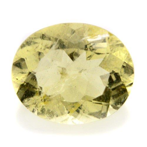 Natural Yellow Beryl Loose Gemstone Oval Cut 1.40cts 8*7mm SI Grade Gem