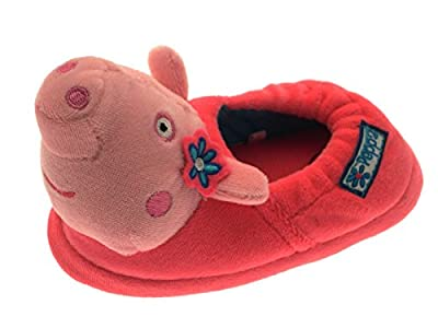 Kids Girls Childrens Peppa Pig Novelty Pink 3D Slippers Fleece Cartoon Character Boots Xmas Gift Shoes Size UK 4-10