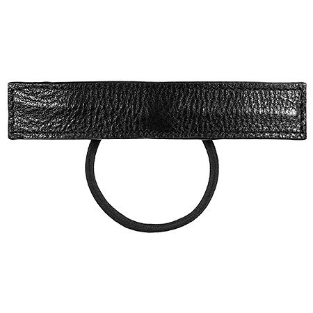 SEPHORA COLLECTION Leather Wrap Ponytail Holder Black Leather