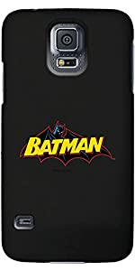Coveroo Thinshield Cell Phone Case for Samsung Galaxy S5 - Batman Logo Yellow Blue at Gotham City Store