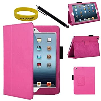 Amazon.com: Dealgadgets® Hot Pink Leather Case Cover For Apple ...