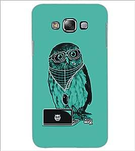 Printdhaba Owl D-5401 Back Case Cover For Samsung Galaxy E7