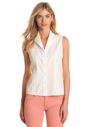 Jones New York Women S Sleeveless No Iron Easy Care Shirt