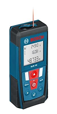Bosch GLM 50 Laser Distance Measurer with 165-Feet Range and Backlit Display by Bosch
