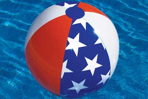 Americana 24in. Inflatable Beach Ball Pool Toy - 1