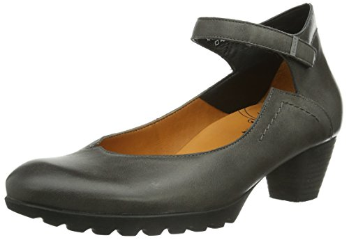 Think Nola, Damen Knöchelriemchen Pumps, Grau (ANTRAZIT-14), 42.5 EU (8.5 Damen UK)
