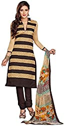 Swaman Striped Chanderi Dress Material