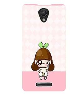 PRINTVISA Cute Cartoon Girl Case Cover for Xiaomi Redmi Note 2