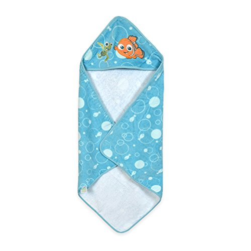 Disney Baby Hooded Towel, Blue/Orange Finding Nemo