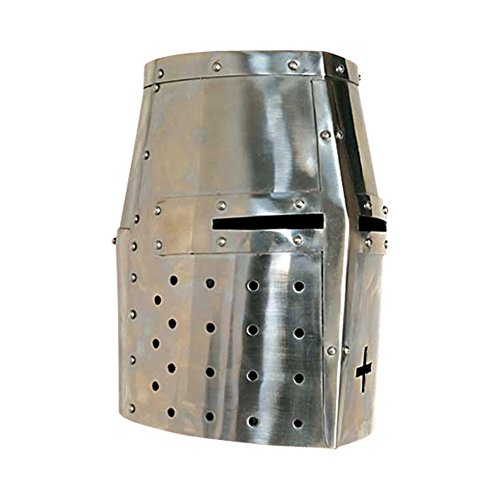 Armor Venue - Crusader Helmet - Medieval Costume Armour Metallic One Size