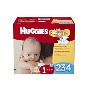 Huggies Little Snugglers Diapers Economy Plus, Size 1, 234 Count
