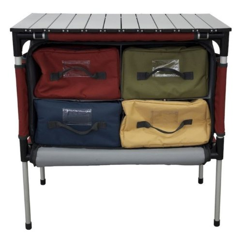 Camp Chef Sherpa Camp Table And Organizer (Brick) front-243430