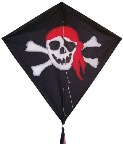 In the Breeze I'm a Jolly Roger Diamond Kite, 30-Inch