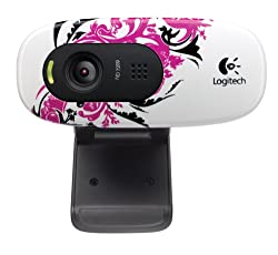 Logitech C270 720p Widescreen Video Call and Recording HD Webcam - 960-000819 (Floral Spiral)