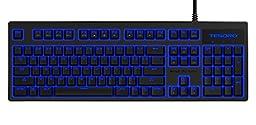 Tesoro Brown Mechanical Switch Blue LED Backlit Illuminated Mechanical Gaming Keyboard (TS-G7NL-V2 (BW))